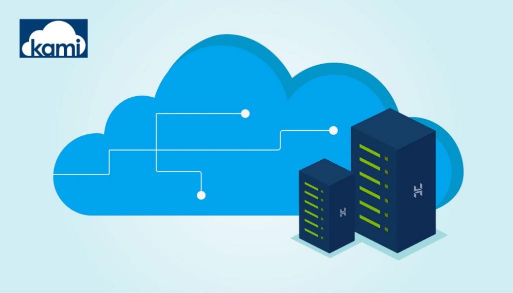 Cloud servers and kami cloud logo